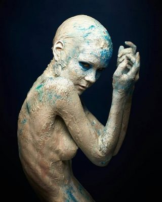 porcelain portrait photography by carlton wolfe model VikTory mua/bodyart: Kim reyes assistant Lukas North DC