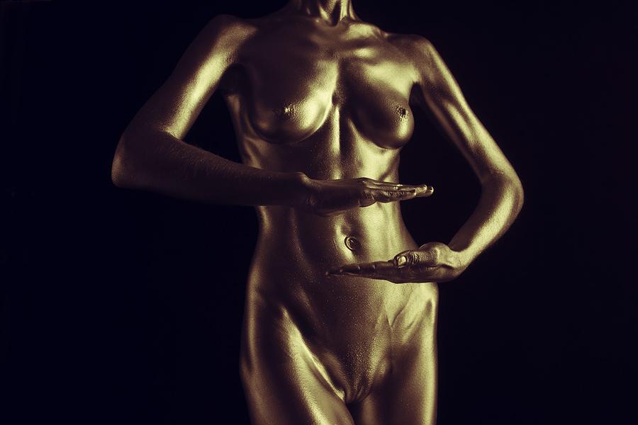 golden bodypaint zuerich, schweiz 2015 claude Mathieu
