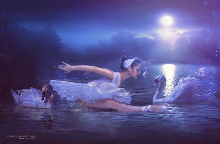 VikTory the ballerina Model dying swan