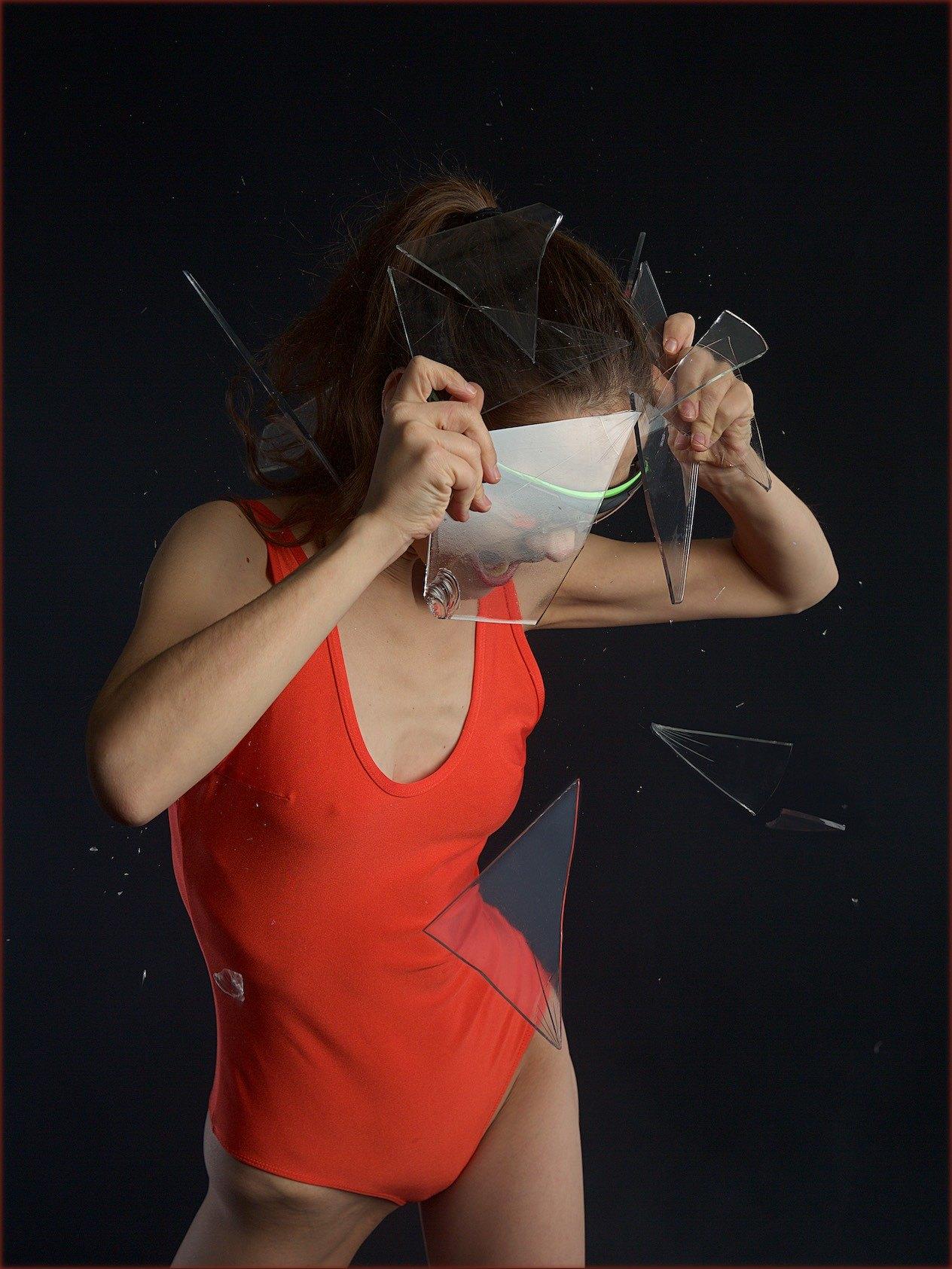 VikTory the ballerina model - smashing glass